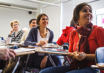 Faculty in a classroom setting