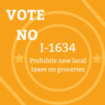 Vote NO on I-1634: Prohibit new local taxes on groceries