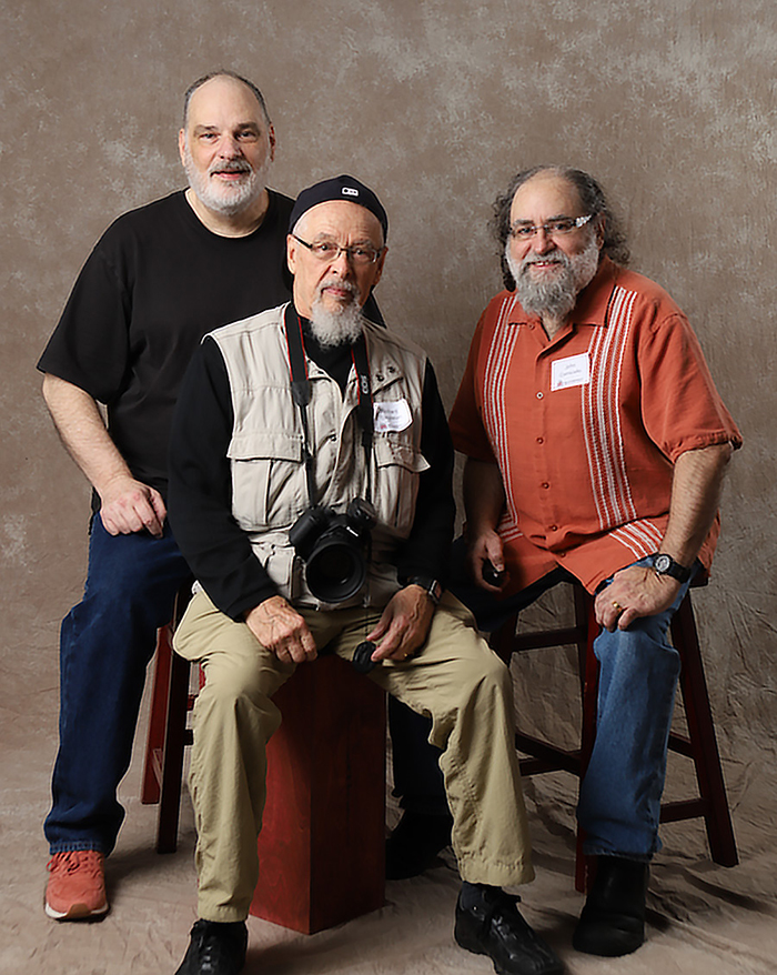 Volunteer photographers (l to r) Bruce Weber, Richard Singleton & John Cornicello