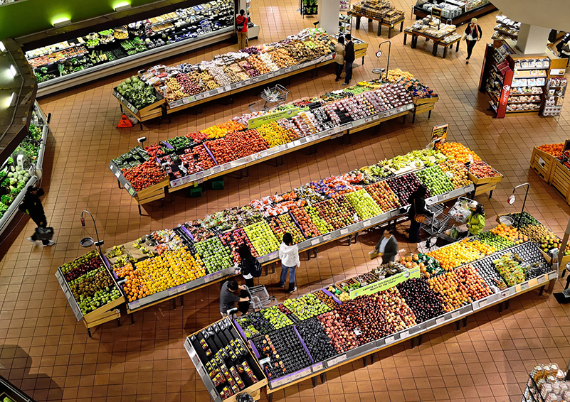 Supermarket from above