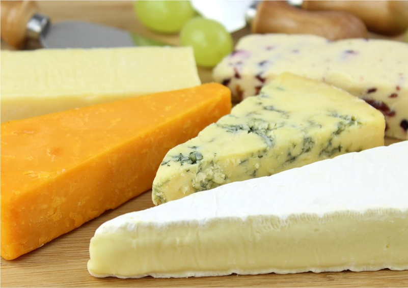 Various blocks of cheese