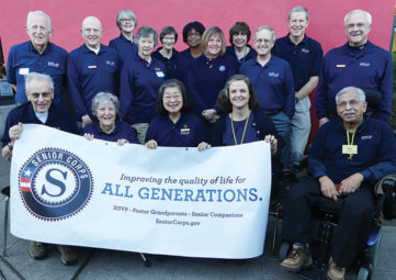 2017 members of RSVP's community of Volunteer Ambassadors! (Photo by Liz Reed Hawk)