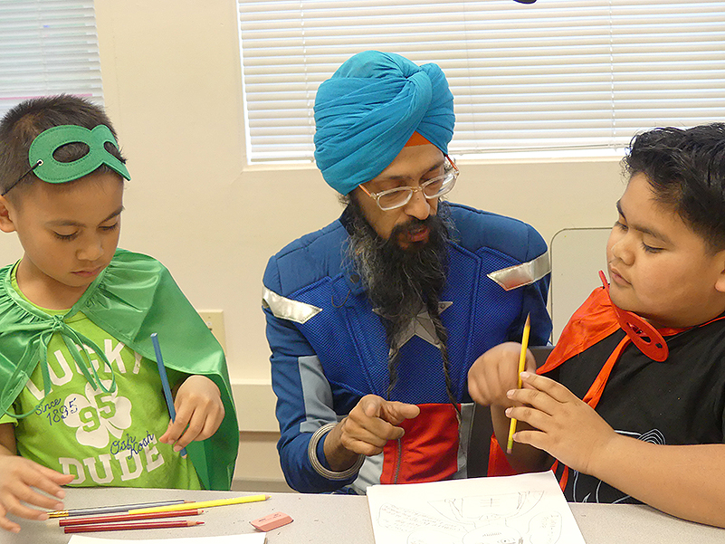 Vishavjit Singh coaches comic book artists