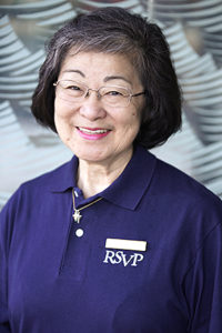 Lillian Hayashi, long-time RSVP Ambassador & volunteer
