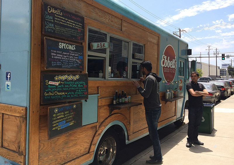 A food truck mixing cuisines from multiple cultures