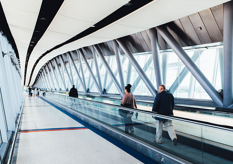 Image of Airport Moving Walkway
