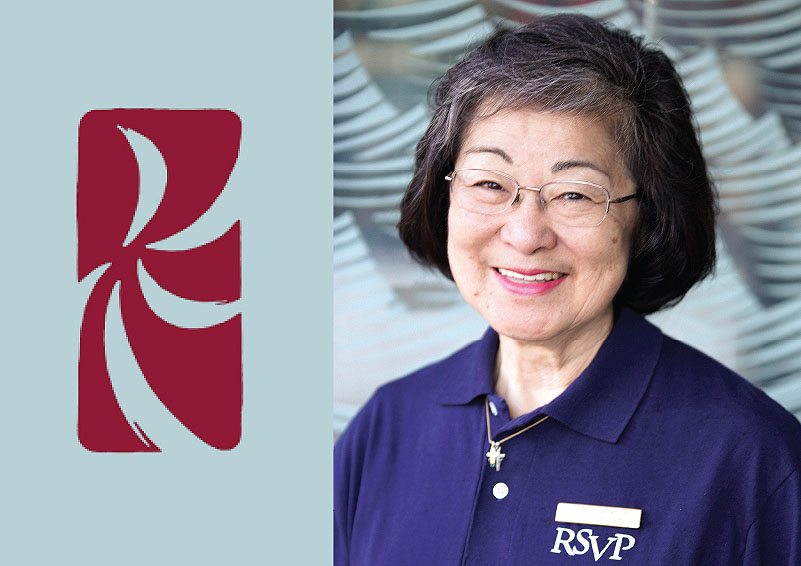 Portrait of Lillian Hayashi with the Keiro NW Logo
