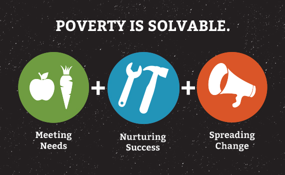 Solid Ground believes poverty is solvable. We approach this by meeting basic needs, nurturing success, and spreading change, helping our community meet its full potential.