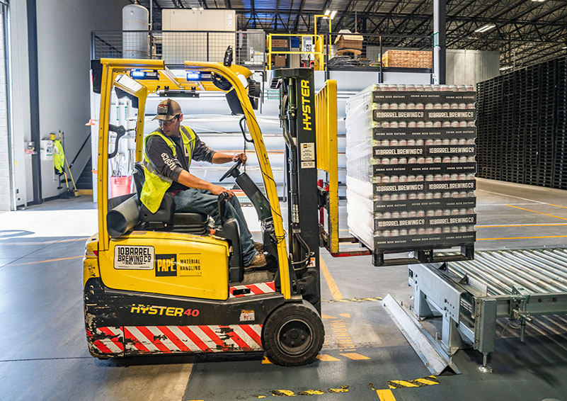 Image of Forklift in a Warehouse