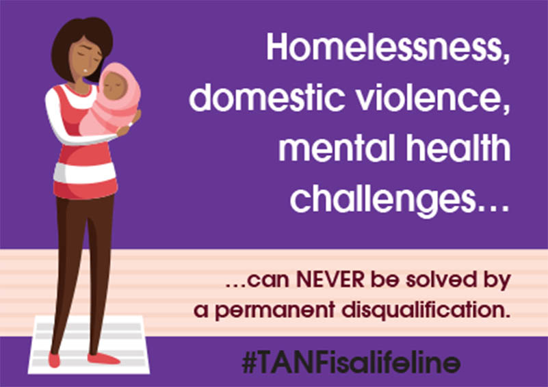 TANF is a lifeline postcard image