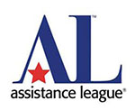 Assistance League logo, red star and blue letters AL