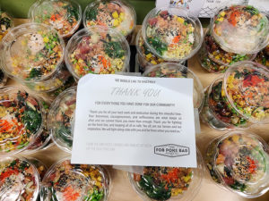 Thank you note to the healthcare workers from Pokebar
