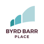 Byrd Barr Place logo - light blue, teal and black text