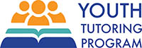 Youth tutoring program logo in mustard yellow and bright blue colors