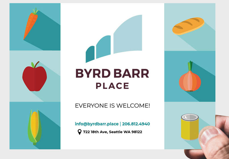 byrd barr place logo with their message, everyone is welcome