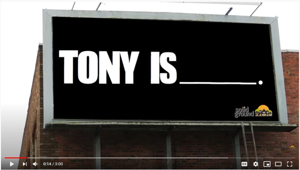 Billboard that says Tony Is____