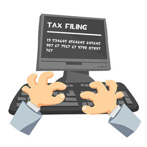 Animated image of tax filing