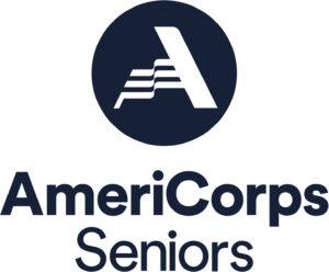 AmeriCorps Seniors logo in dark navy blue