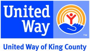 United Way of King County logo in blue, orange, and red