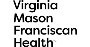 Virginia Mason Franciscan Health logo, black lettering on white background