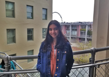 A picture of high school student Anushka Saxena