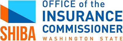 orange and blue SHIBA logo, OFFICE of the INSURANCE COMMISSIONER WASHINGTON STATE
